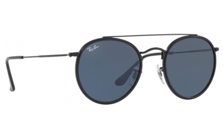 8a982fab46a716 Ray-Ban Round Double Bridge RB3647N 002 R5 51 Sunglasses - Free Shipping